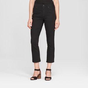 High-Rise Kick Boot Crop Jeans